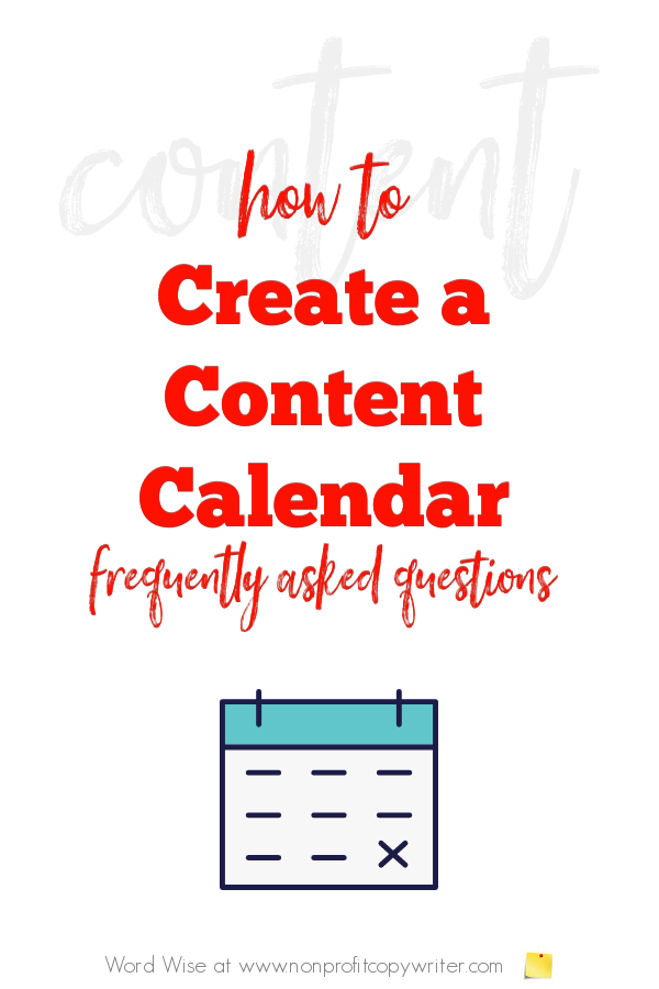 How to create a content calendar with Word Wise at Nonprofit Copywriter #WritingTips #amwriting