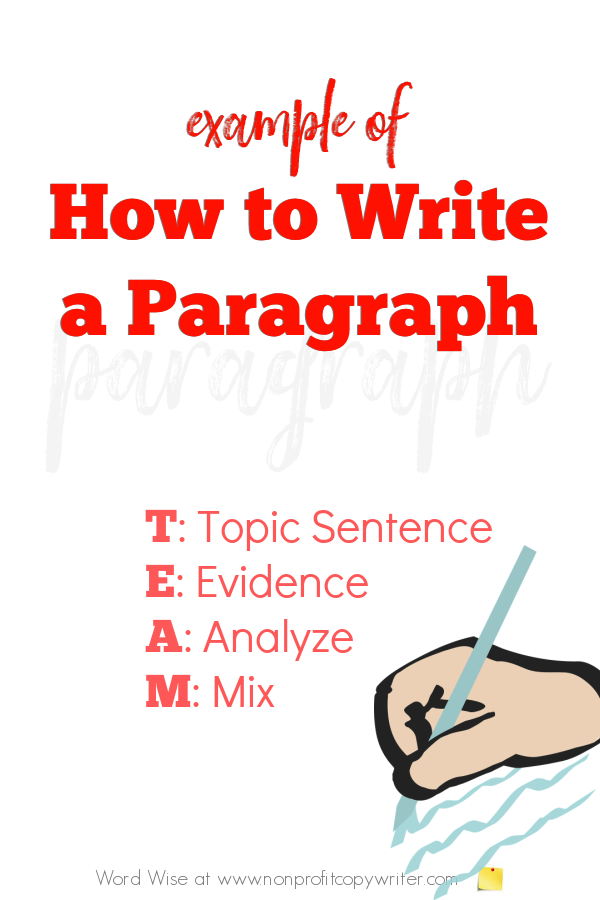 Example of how to write a paragraph with Word Wise at Nonprofit Copywriter #ContentWriting #WritingTips #WritingTutorials