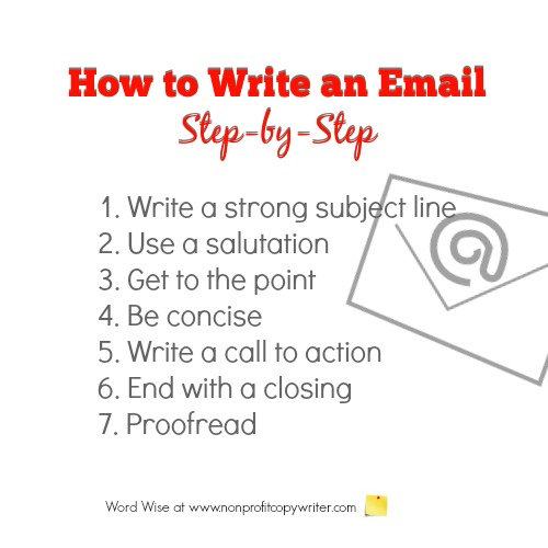 How to write an email step-by-step with Word Wise at Nonprofit Copywriter
