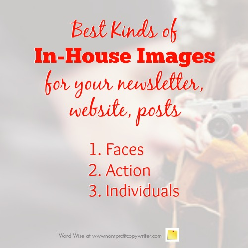 Images for your newsletter, website, posts with Word Wise at Nonprofit Copywriter