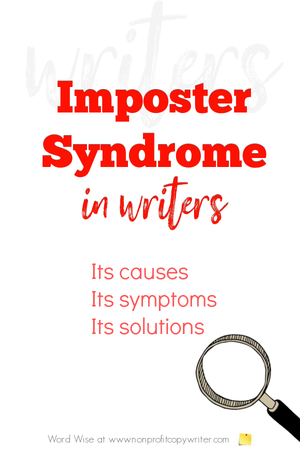Imposter Syndrome in #writers with Word Wise at Nonprofit Copywriter #WritingTips #FreelanceWriting