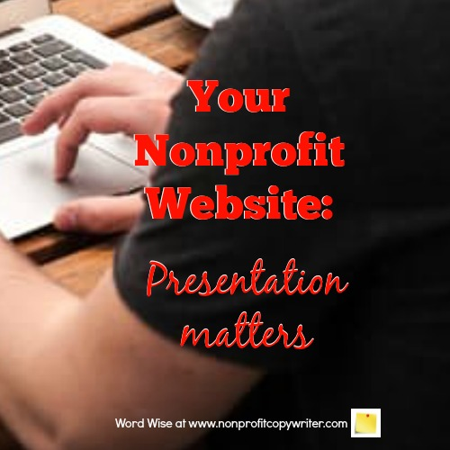 Nonprofit website checklist with Word Wise at Nonprofit Copywriter