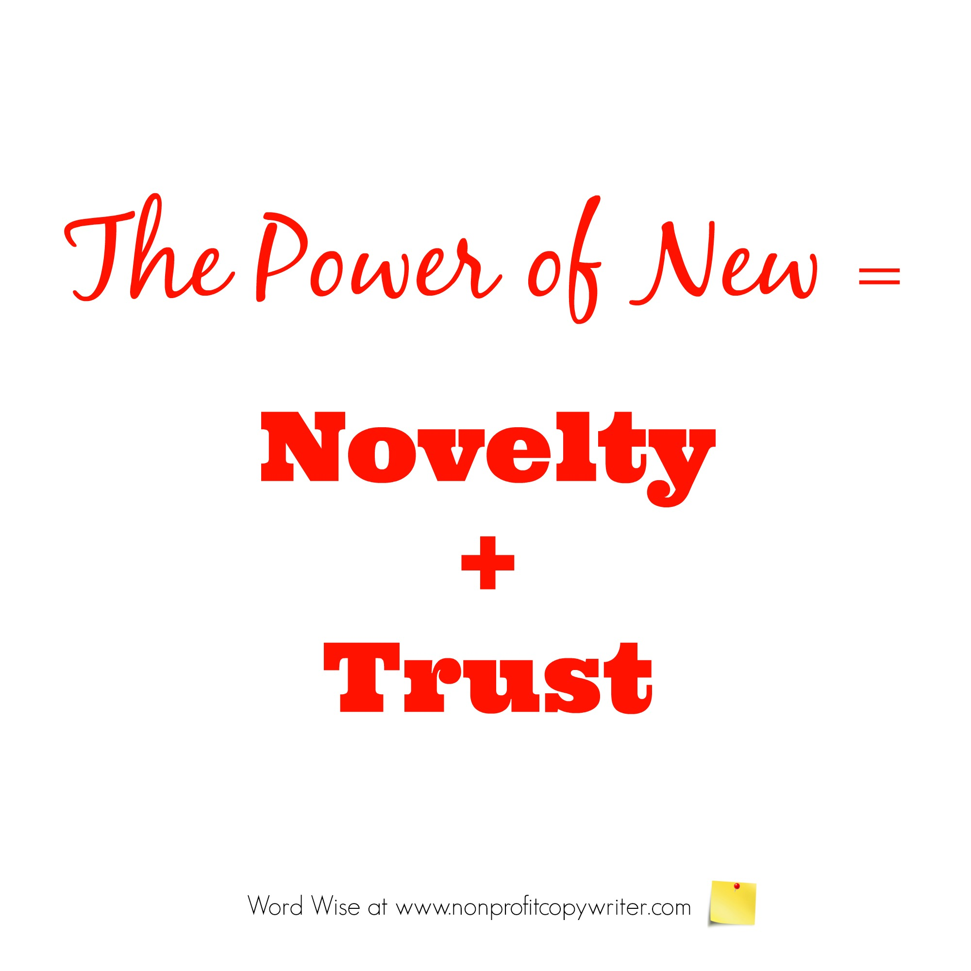 The Power of New in persuasive writing with Word Wise at Nonprofit Copywriter