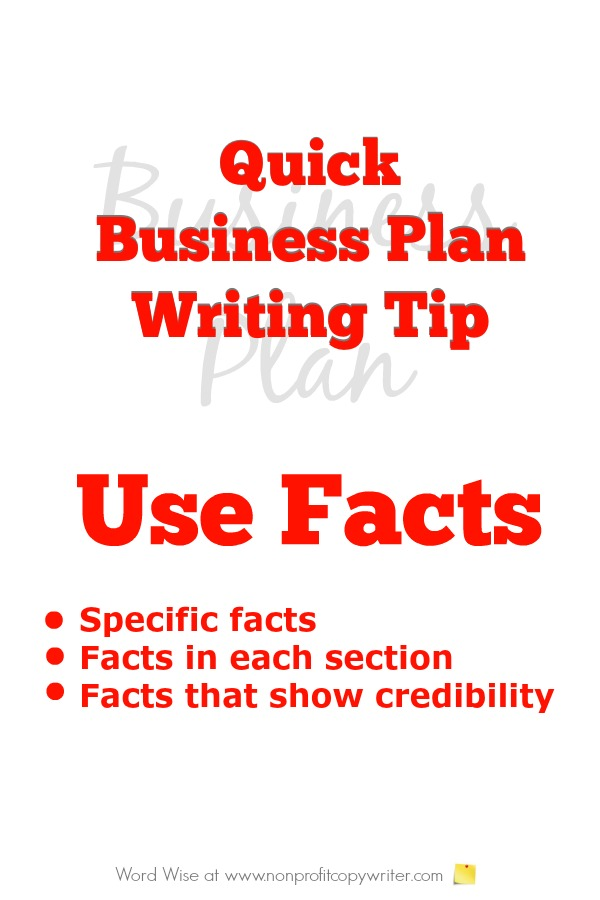 Quick writing tip for writing a business plan with Word Wise at Nonprofit Copywriter