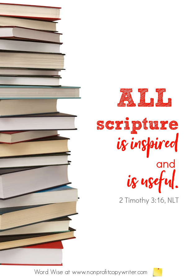 The Table of Contents: a #devotional for writers based on 2 Tim 3:16 with Word Wise at Nonprofit Copywriter #WritingTips #WritingABook