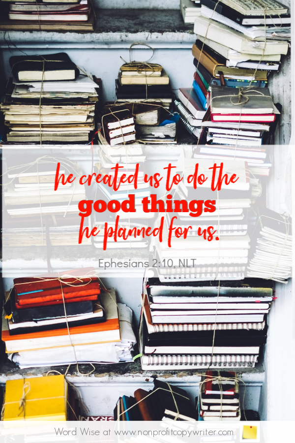 The USP: an online #devotional for #writers based on Eph 2_10 with Word Wise at Nonprofit Copywriter #FreelanceWriting #ChristianWriting