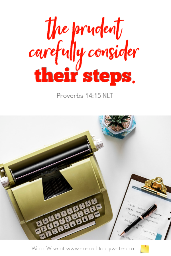 The How-To Article: an online devotional for writers based on Proverbs 14:15 with Word Wise at Nonprofit Copywriter #ChristianWritingResources #WritingArticles