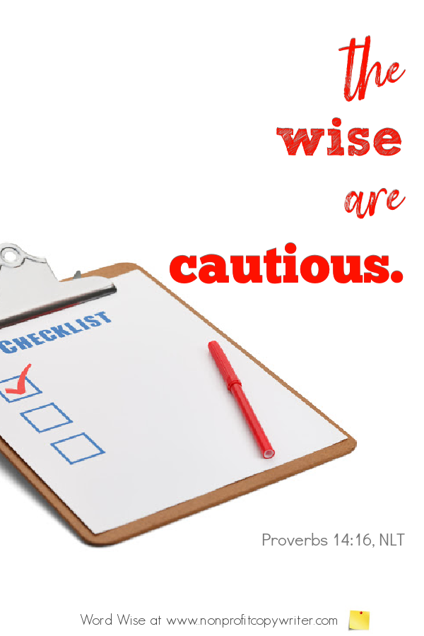 The Checklist: a tool of diligence for #writers #WritingTips with Word Wise at Nonprofit Copywriter
