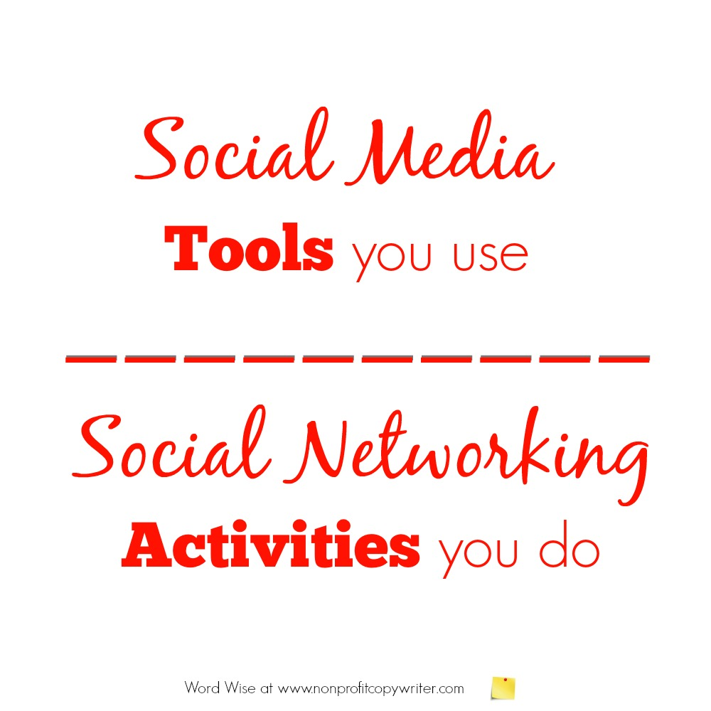 Social media vs social networking with Word Wise at Nonprofit Copywriter