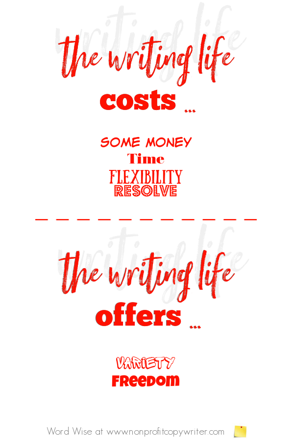The Writing Life with Word Wise at Nonprofit Copywriter #FreelanceWriting #WritingTips