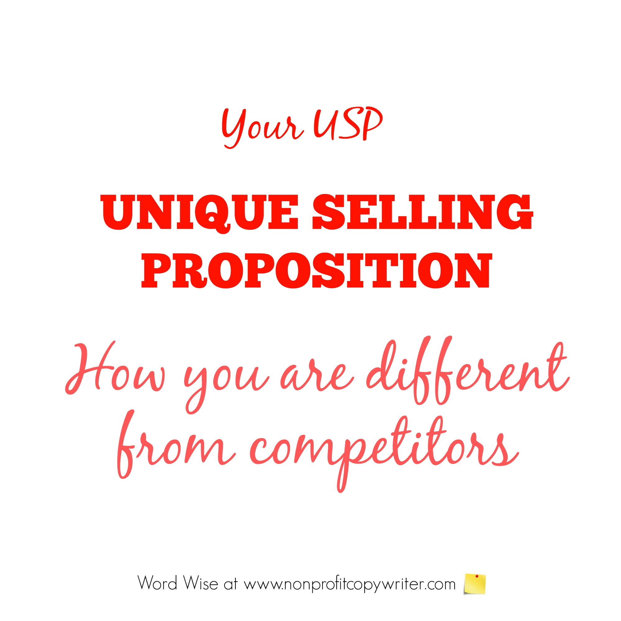 Your Unique Selling Proposition (USP) with Word Wise at Nonprofit Copywriter