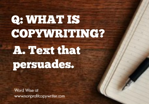 What is copywriting? with Word Wise at Nonprofit Copywriter