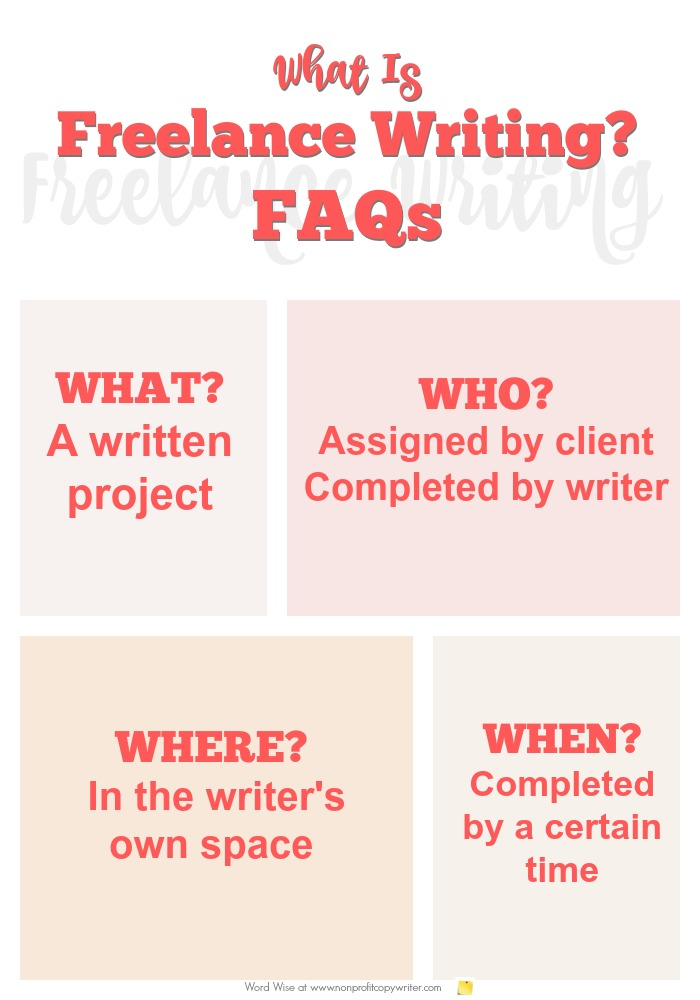 What is freelance writing? FAQs for freelance writers and those who want to hire them with Word Wise at Nonprofit Copywriter
