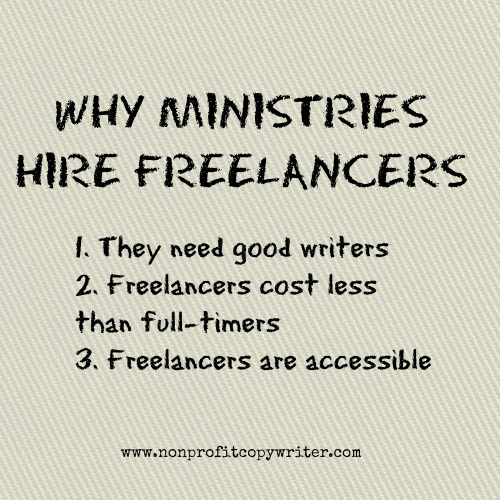 3 reasons ministries hire freelancers from Nonprofit Copywriter