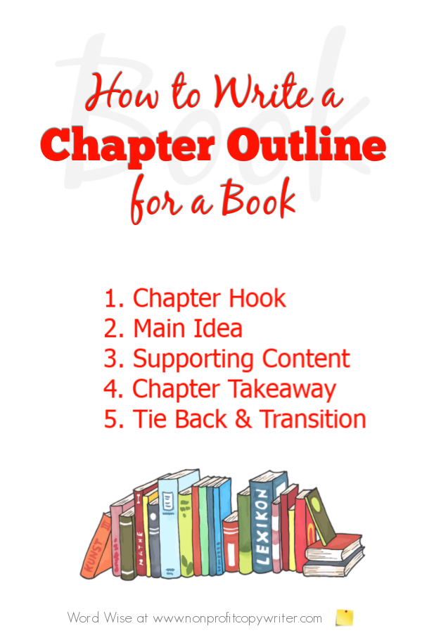 How to create a chapter outline for #Writing a book with Word Wise at Nonprofit Copywriter #FreelanceWriting #WritingTips