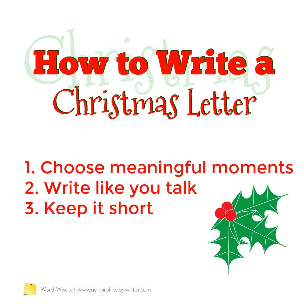 How to write a Christmas letter - 3 simple writing tips with Word Wise at Nonprofit Copywriter