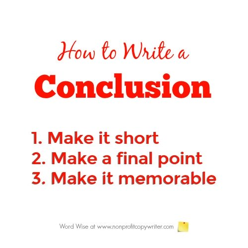 How to write a conclusion with Word Wise at Nonprofit Copywriter