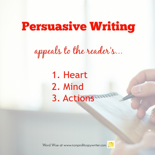 Persuasive writing appeals to the reader with Word Wise at Nonprofit Copywriter