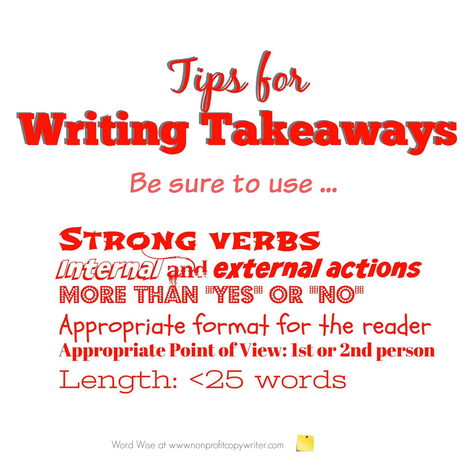 Tips for writing takeaways for devotionals with Word Wise at Nonprofit Copywriter