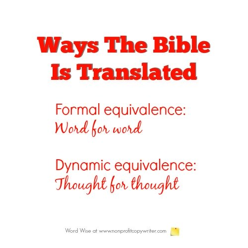 Understanding Bible translations: an overview for writers with Word Wise at Nonprofit Copywriter