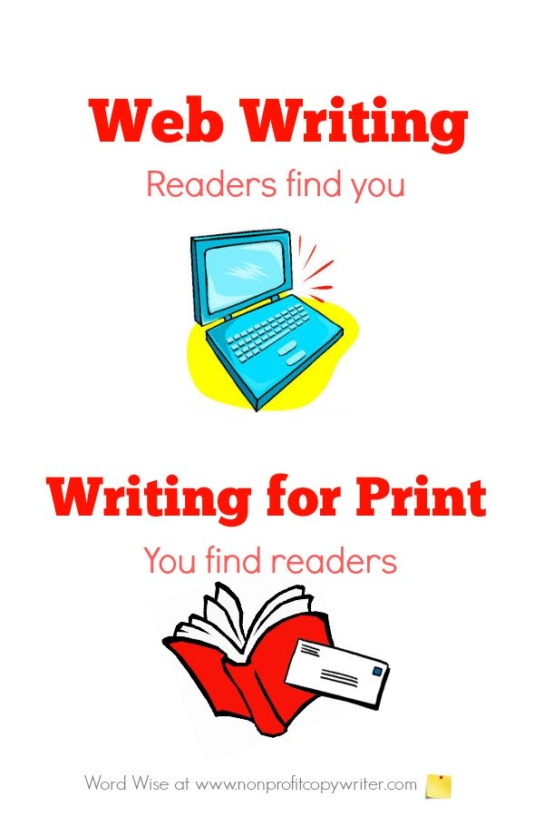 Web writing: readers find you. #WritingTips with Word Wise at Nonprofit Copywriter