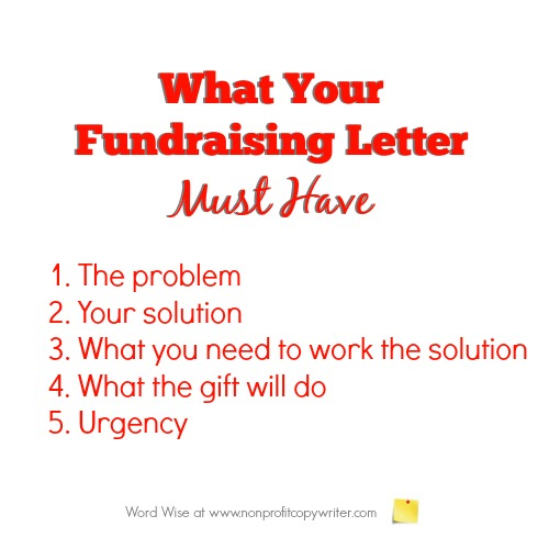 What your fundraising letter must have: 5 valuable tips for writing your appeal with Word Wise at Nonprofit Copywriter