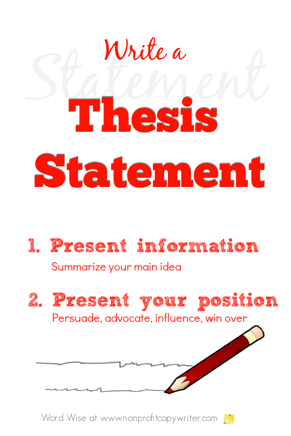 How to write a thesis statement with Word Wise at Nonprofit Copywriter #WritingTips #WritingContent #Copywriting