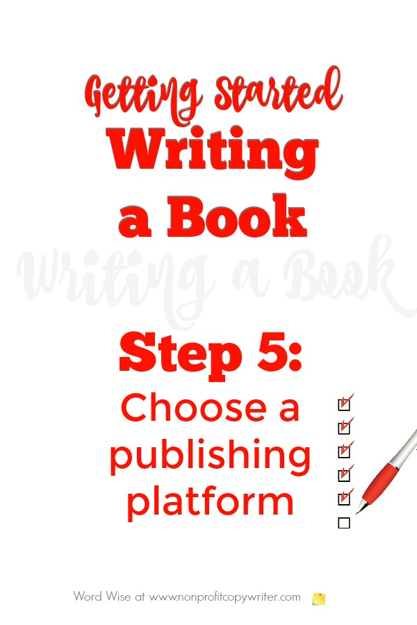 Getting started writing a book, Step 5 with Word Wise at Nonprofit Copywriter