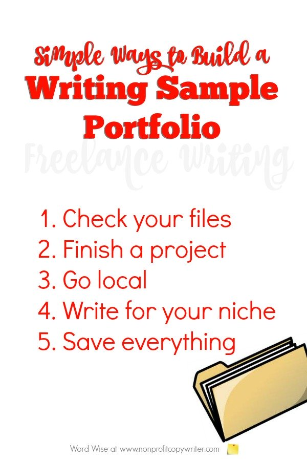 How to build a writing sample portfolio with Word Wise at Nonprofit Copywriter